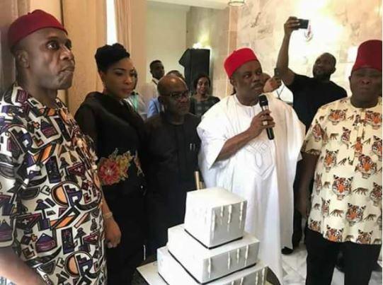Dangote, Amaechi & Obiano At 53rd Birthday Celebration  Of Alex Otti In Lagos (Photos)