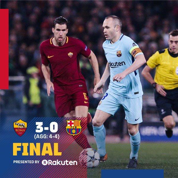AS Roma vs Barcelona 3-0 Highlight Download