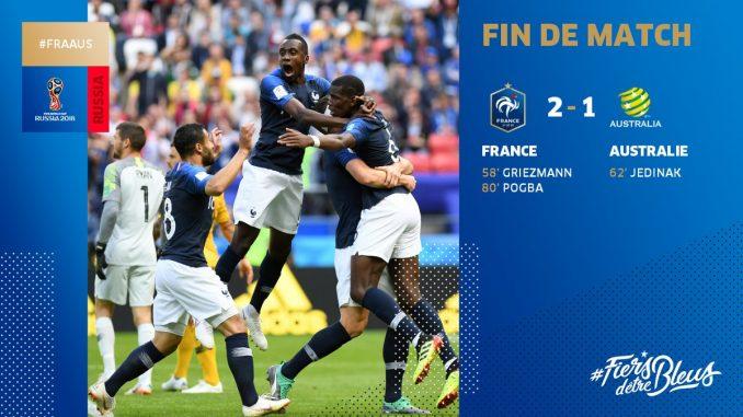 France vs Australia 2-1 Highlight Download