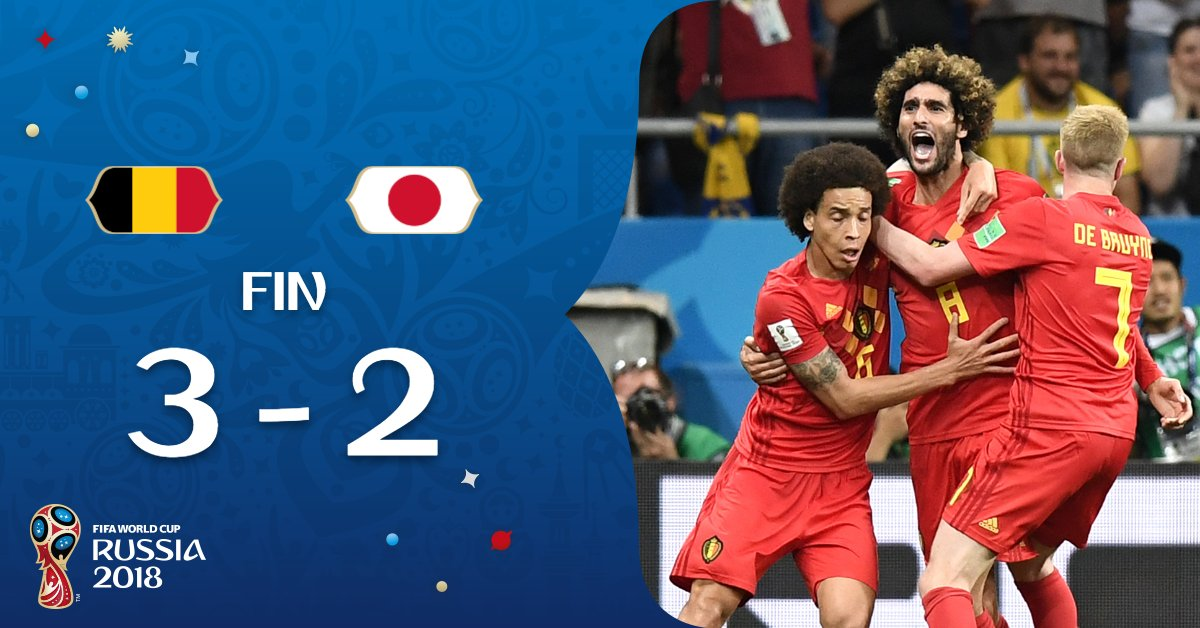 Belgium vs Japan 3-2 Highlight Download