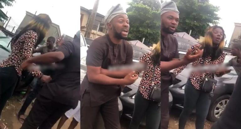 Man Publicly Disgraced By A Prostitute In Lagos (Video)
