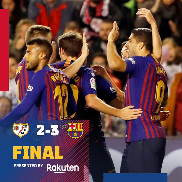 Rayo Vallecano vs Barcelona 2-3 Highlight Download