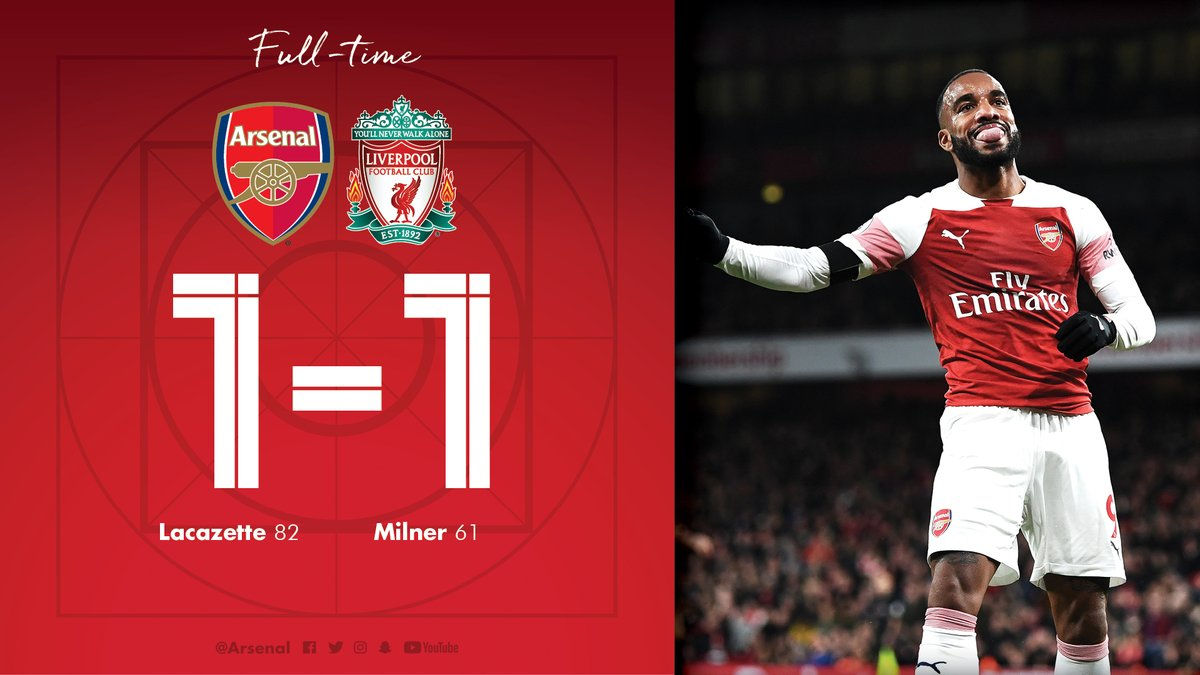 Arsenal vs Liverpool 1-1 Highlight Download