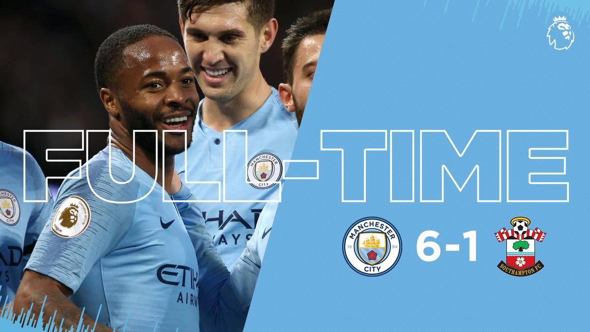 Manchester City vs Southampton 6-1 Highlight Download