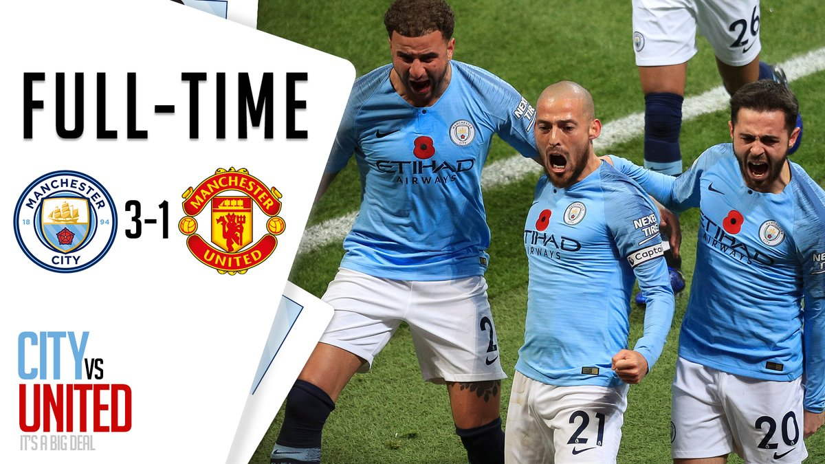Manchester City vs Manchester United 3-1 Highlight Download
