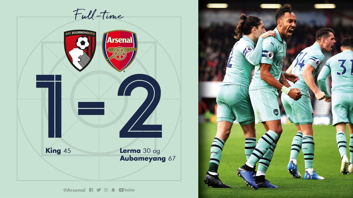 Bournemouth vs Arsenal 1-2 Highlight Download