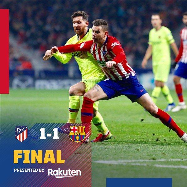 Atletico Madrid vs Barcelona 1-1 Highlight Download