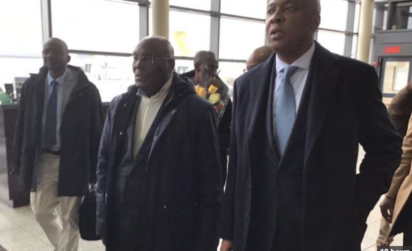 Watch The Moment Atiku Landed In America For The First Time After 12 Years (Video)