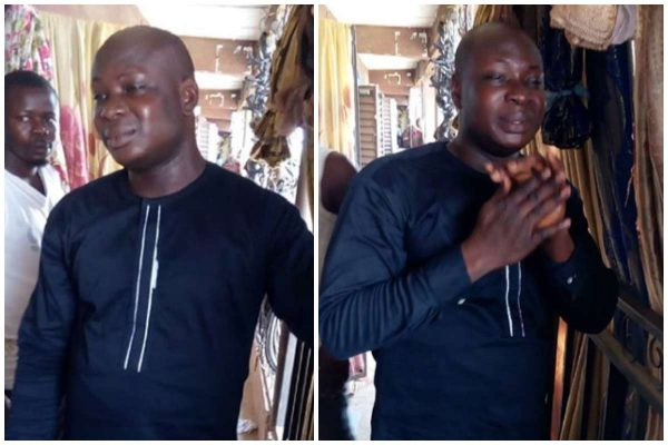 Man Caught Red-handed Trying To Buy Goods With Fake Bank Alert In Lagos (Photos)