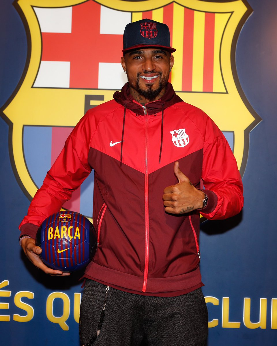 Kevin-Prince Boateng Joins Barcelona (Photo)