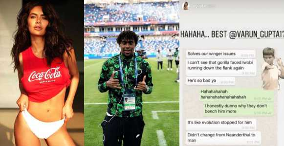 Indian Actress, Esha Gupta Apologises Over Racist Comment On Nigerian Footballer, Alex Iwobi