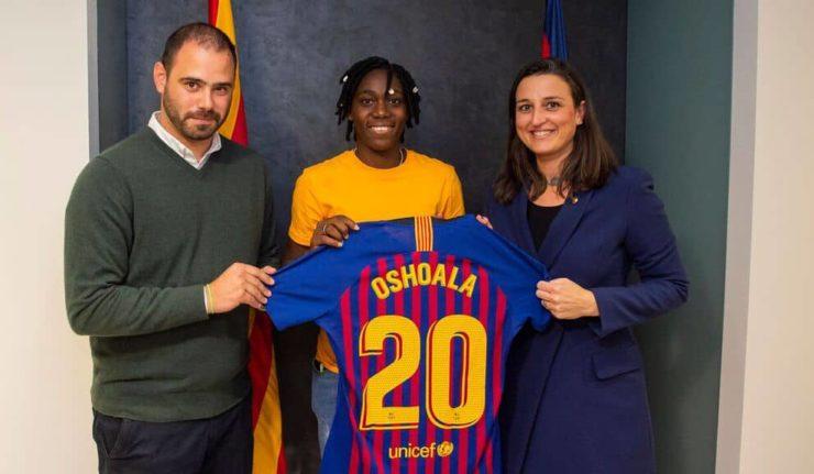 Barcelona Announce Signing Of Asisat Oshoala On Loan From Dalian Quanjian F.C