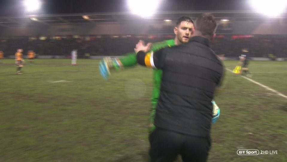 Goalkeeper Runs Off Pitch To Be With His Pregnant Wife As She Gives Birth To Twins