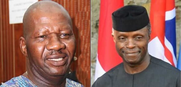 Vice President Osinbanjo Saves Baba Suwe, Donates N1million To Ailing Actor