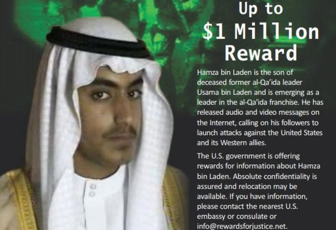 US Declares Osama bin Laden's Son Wanted, Offers $1 Million For Information On His Whereabouts