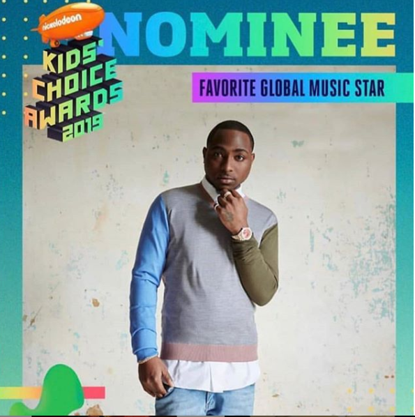 Davido Loses To Taylor Swift At The Nickelodeon Kids' Choice Awards (Full List)