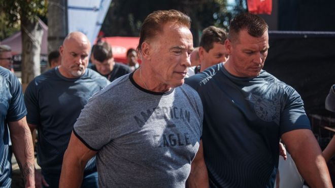 See How Arnold Schwarzenegger Was Attacked In South Africa (Video)