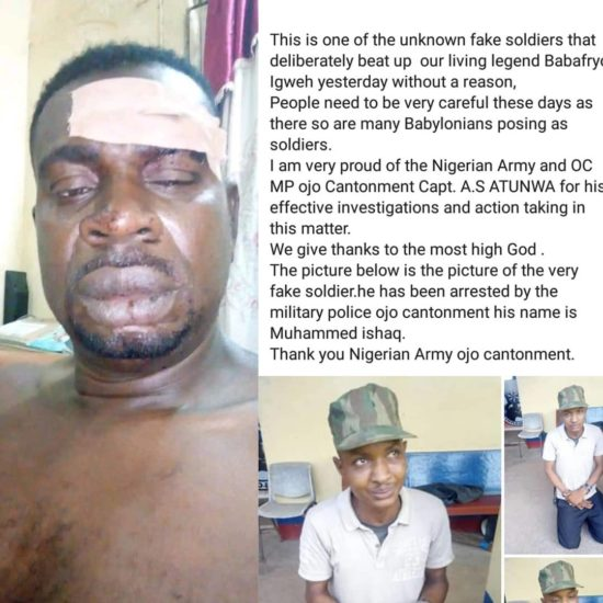 Army Arrest The Fake Soldier Who Assault Baba Fryo