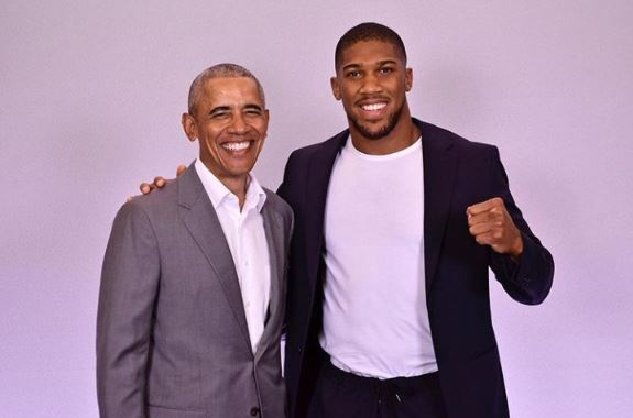 Anthony Joshua Poses With Barrack Obama In Cute Photo