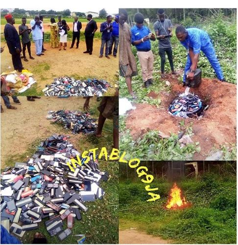 Hundreds Of Mobile Phones Burnt In Ibadan Poly… Find Out What Happened (Photos)