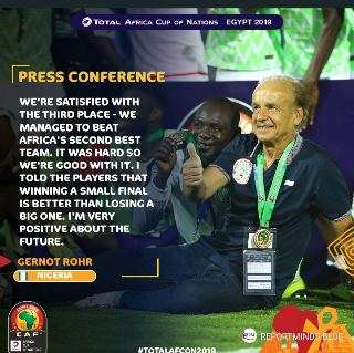 We Are Satisfied With Third Position – Rohr