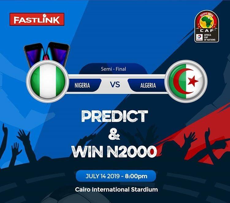 Predict The Correct Score: Nigeria vs Algeria (win 7k) Act Fast Comment