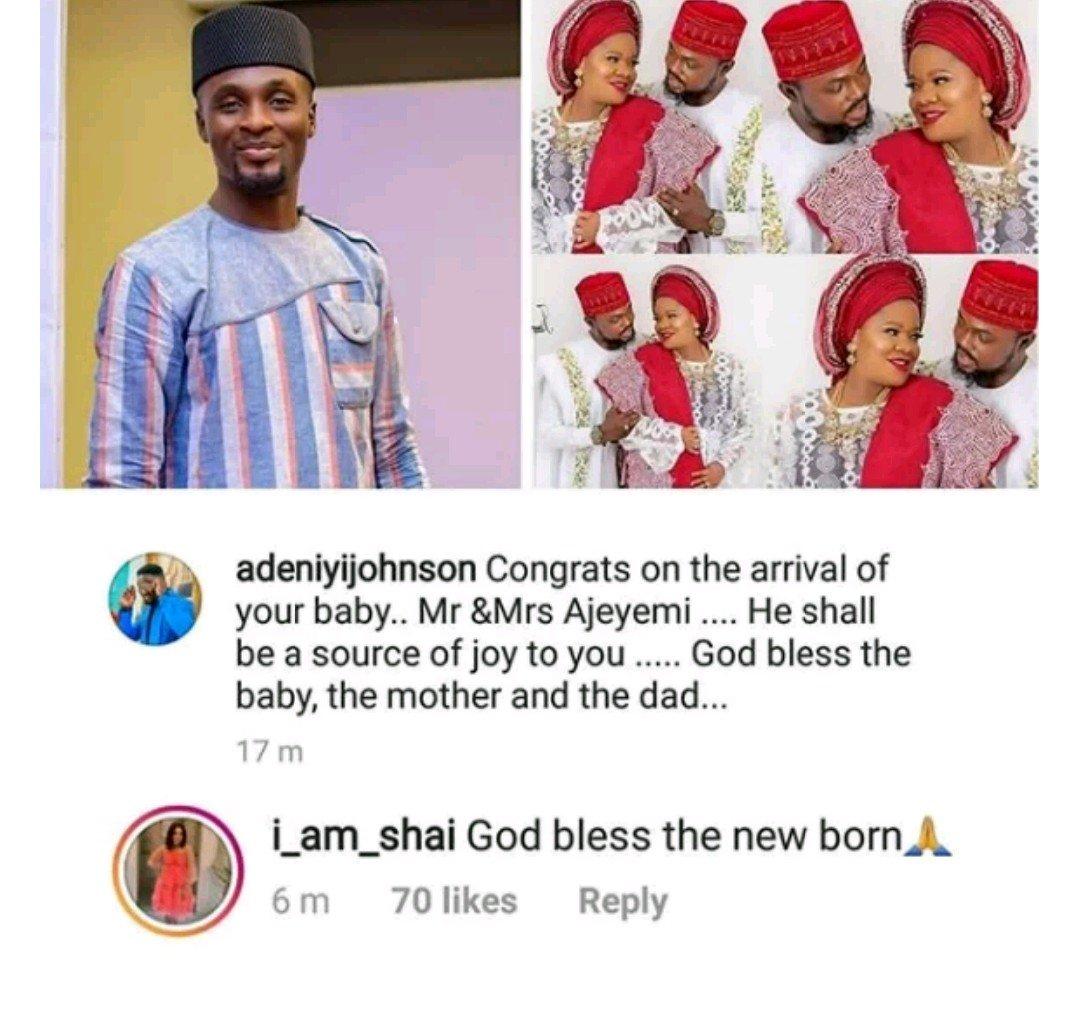 Adeniyi Johnson And Seyi Edun Congratulate Toyin Abraham