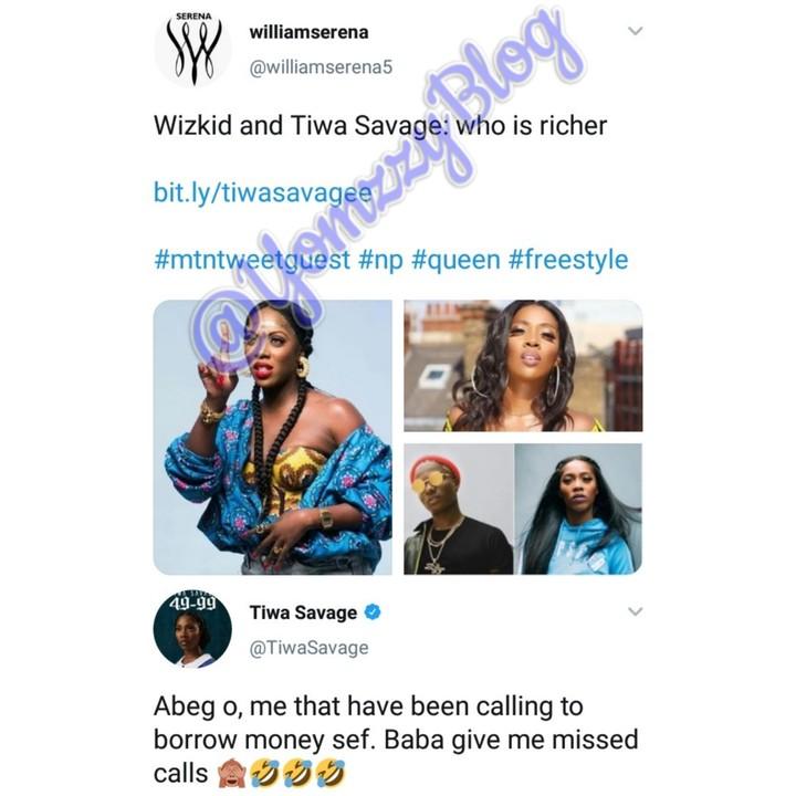 I Am Not Richer Than Wizkid – Tiwa Savage