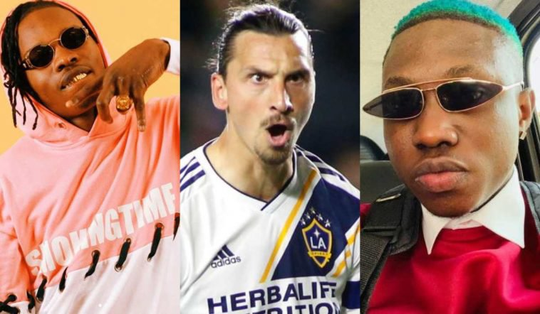 Naira Marley reacts when Ibrahimovi? tweeted 'there can only be one Zlatan'