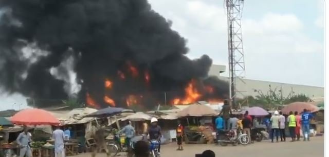 Fire Guts Dangote Factory (Video)