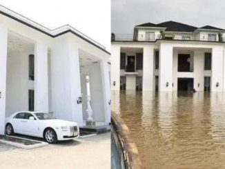 The house before it was submerged by flood