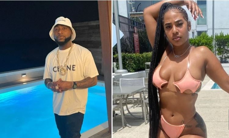 Twitter Goes Wild As Davido Is Caught On Camera Stepping Out With American Model During Vacation ( Video)